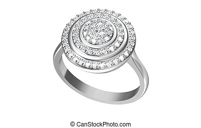 The beauty wedding ring. 3D rendering