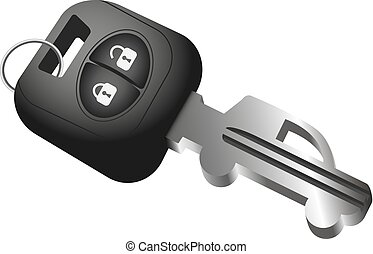Car key and car symbol. Sale, rental and purchase of cars.