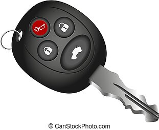 Car key vector - Car key symbol vector