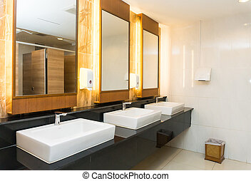 Interior of Modern private toilet or restroom