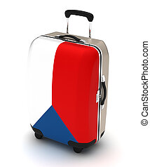Travel to Czech (isolated with clipping path)
