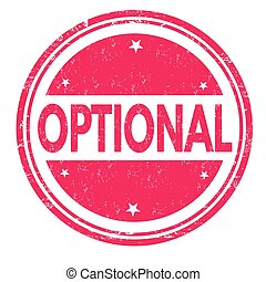 Optional sign or stamp on white background, vector...