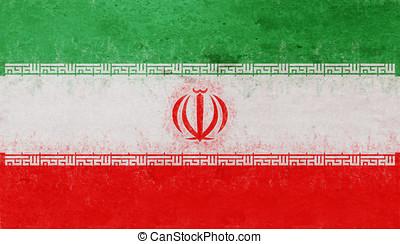 Flag of Iran Grunge.