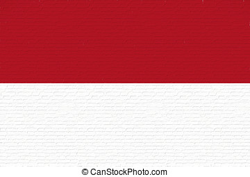 Flag of Indonesia Wall.