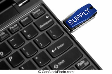 supply - this is a image of thumbdrive with added effect.
