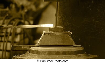 Mechanical forging - Vintage Mechanical forging Black and...