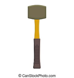 Rubber mallet tool isolated - Rubber mallet tool, colorful...