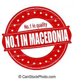 No one in Macedonia - Stamp with text no one in Macedonia...