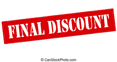 Final discount - Rubber stamp with text final dicount...