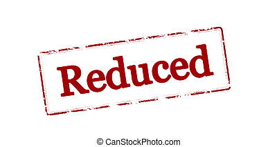 Reduced - Rubber stamp with word reduced inside, vector...