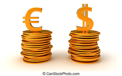 US dollar and Euro Currency equation