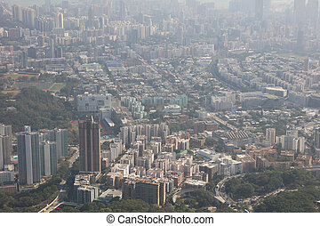 the kowloon view from Loin Rock - Middle of kowloon view...