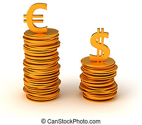 Currency dominancy - US dollar and Euro