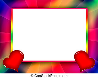 Colorful love frame