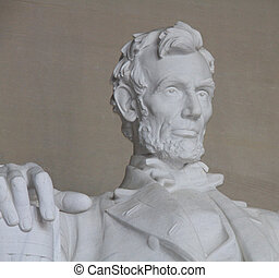 Statue of Abraham Lincoln in the Lincoln Memorial building...