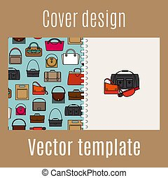 Cover design with diferent bags pattern - Cover design for...