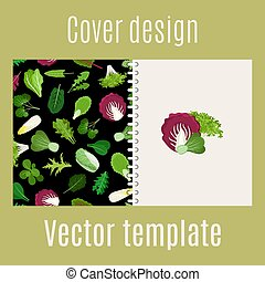 Salad leaves and herbs pattern cover