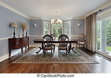 Dining room with picture window