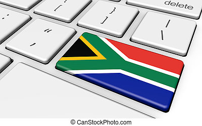 South Africa Flag Computer Keyboard - South Africa...