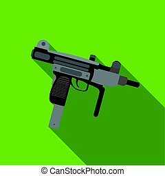 UZI weapon icon flate. Single weapon icon from the big...