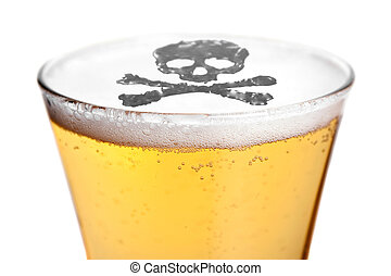 Alcoholism Is Deadly - The dangers of alcoholism concept...