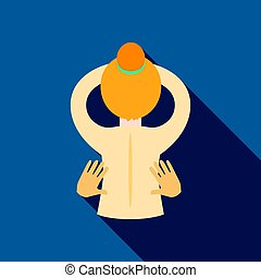 Massage icon of vector illustration for web and mobile...