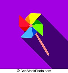 Toy windmill flate icon. Illustration for web and mobile...