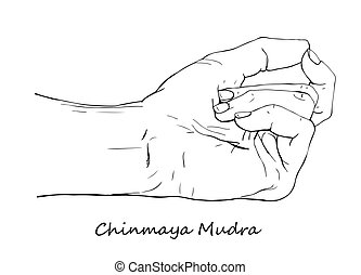 Hand drawn Chinmaya Mudra - Chinmaya Mudra. Hand drawn...