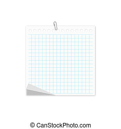 notebook isolated on white - notepad notebook isolated on...