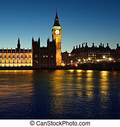Houses of Parliament, London - Houses of Parliament at night...