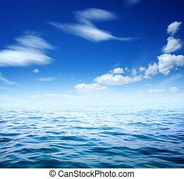 藍色, 水, 海, 表面
