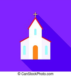 Church icon of vector illustration for web and mobile