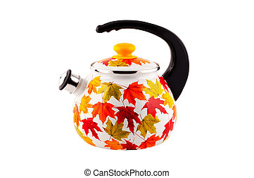 Teapot isolated on white background.