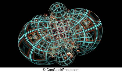Abstract fractal footage for creative design - Colorful...