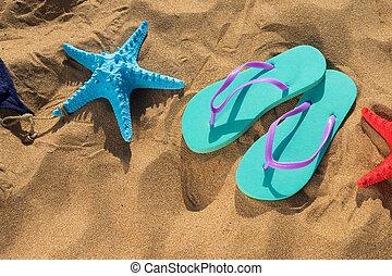 Spaß, sommer, sandstrand
