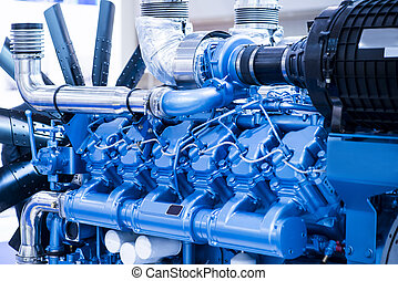 Diesel engine for boat