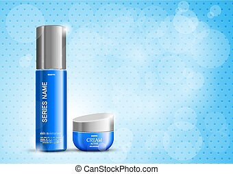 Bright beauty cosmetic design template