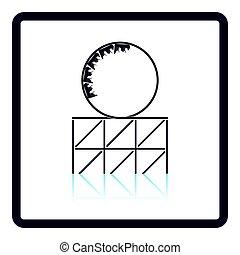 Roller coaster loop icon. Shadow reflection design. Vector...