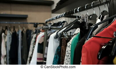 A new collection of clothes entered the store of a famous...