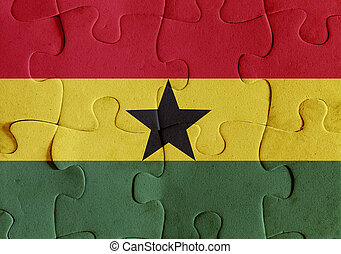 Republic of Ghana flag puzzle - Illustration of a flag of...
