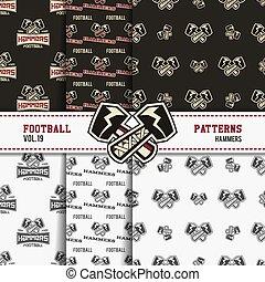 Set of american football patterns. Usa sports seamless...