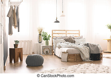 Bedroom with modern furniture