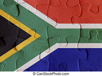 South Africa flag puzzle - Illustration of a flag of South...