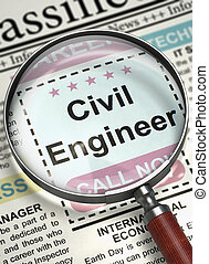 Civil Engineer Join Our Team. 3D. - Illustration of...