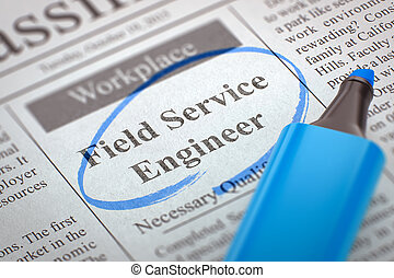 Field Service Engineer Wanted. 3d. - Newspaper with Vacancy...