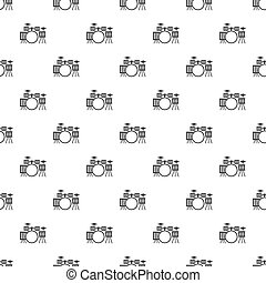 Audio speaker pattern vector - Audio speaker pattern...