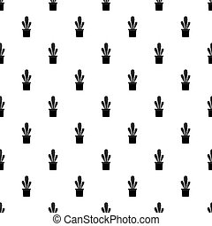 Succulent pattern vector - Succulent pattern seamless in...