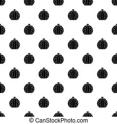 Mexican cactus pattern vector