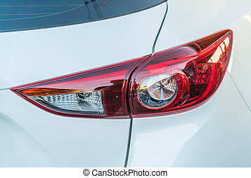 Head lights of a car