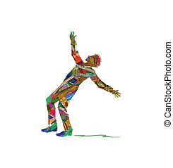 man with open arms - vector illustration of man with open...